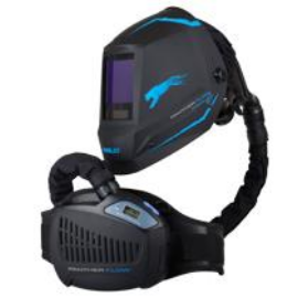 Hegesztő fejpajzs automata friss levegős IWELD PANTHER FLOW Hegesztési sötétség DIN 5-8 , DIN 9-13, 3 fokozatban állítható levegőellátás