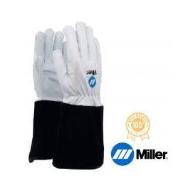 Hegesztő kesztyű AVI Miller, hosszú fekete mandzsetta finom kecskebőr tenyér és marhabőr kézfej, 12-es  758081005