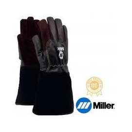 Hegesztő kesztyű AVI+MIG/MAG Univerzális Miller,hosszú mandzsetta, barna finom kecskebő tenyér és kézfej, 10-es  758081013