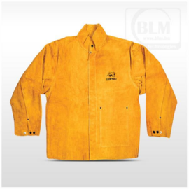 Hegesztő kabát prémium  hasított marhabőr, kevlár erősítés XL-es (sárga)  BLM