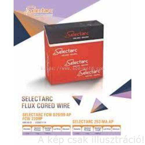 MIG porbeles huzal 1,2mm SELECTARC FCW 51-M  (AWS A5.18: E70C-6M H4) fémpor töltésű huzal prec. (15kg/cs,d300)