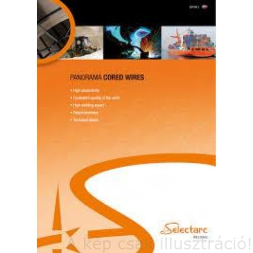 MIG felrakó porbeles huzal 1,2mm SELECTARC FCW 65Bo (62-67 HRC hegesztve), Cr,Ni,B ötvözet (MF10-GF-65-GRZ),16kg/cs