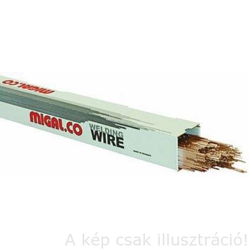 TIG CuSn6 (Ónbronz) 2,0x1000mm AVI hegesztő pálca (AWS A 5.7:ER CuSn - A, WNr.: 2.1022 ) MigWeld-MIGAL.CO