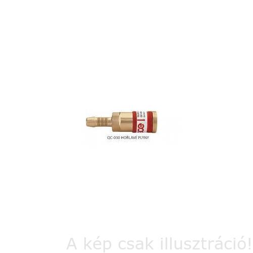 Gyorscsatlakozó aljzat tömlővéges ÉGŐGÁZ 'GCE'  6,3mm tömlőhöz   GCE   F28710040