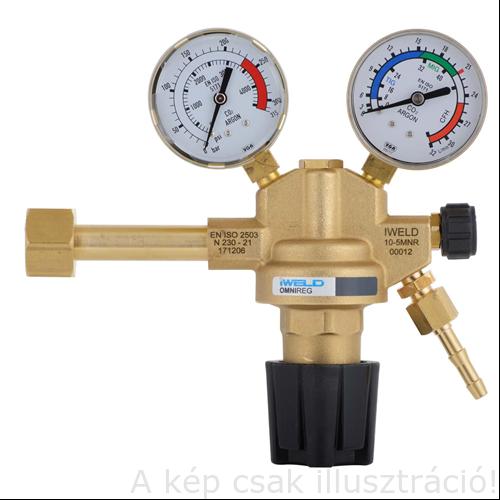 Reduktor CO2/Ar OMNIREG Ar/CO2 Nyomáscsökkentő 230/22L/min W21,8 palack csatlakozóval IWELD 5MNRGCO23022L