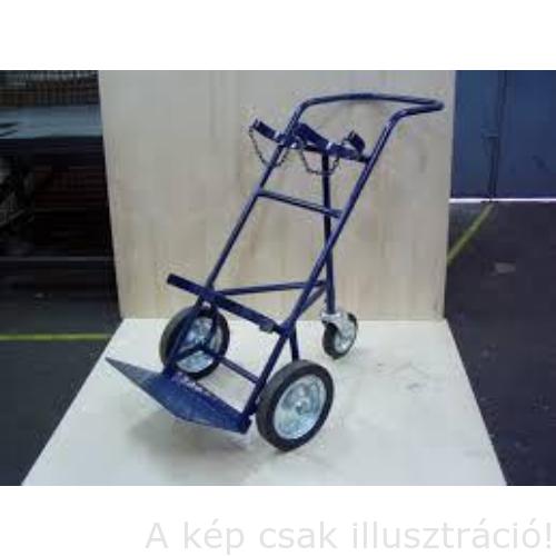 Palack szállító kocsi (dupla) PSZ-2 3 (harmadik támasztó kerékkel) PSZ-2-3, kék