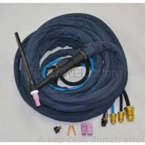 Miller,WK AVI pisztoly vízhűtéses/TIG-torch W280 4m, DINSE 35-50, DC-280A@100%, WP-280D4AE víz- és gáz csatlakozóval  WP-280D4AE