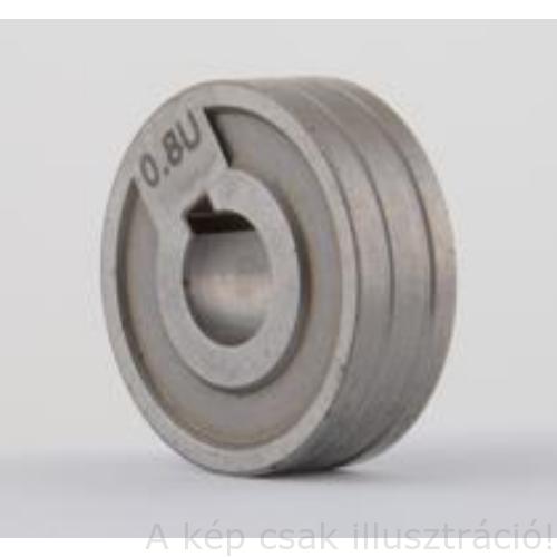 """MIG/MAG görgő előtolóhoz D=30 """"U"""" 0,8-1,0mm Al-hoz POCKETMIG 165/185/195 30x10x10"""