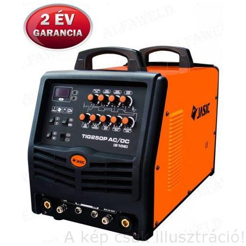 Heg. inverter JASIC TIG 250PAC/DC (E102, 250A-60%) + WP-26-2(4fm-es) AVI pisztollyal,testkábellel