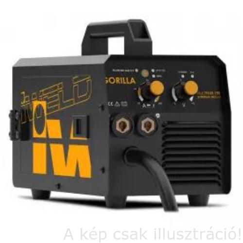 MIG/MAG Heg. gép Iweld GORILLA MULTIFLUX153 Synergic,inverteres,porbeleshuzalhoz fejlesztve(230V,140A@40%, D=100mm/1kg)80MLTFLUX15
