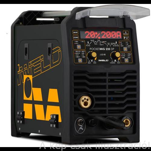 MIG/MAG Heg. gép Iweld GORILLA POCKETMIG 235 DP Synergic(MIG/BKI) invertres,(230V,210A@60%,160A@100%D=200mm/5kg) 800MIG235DP