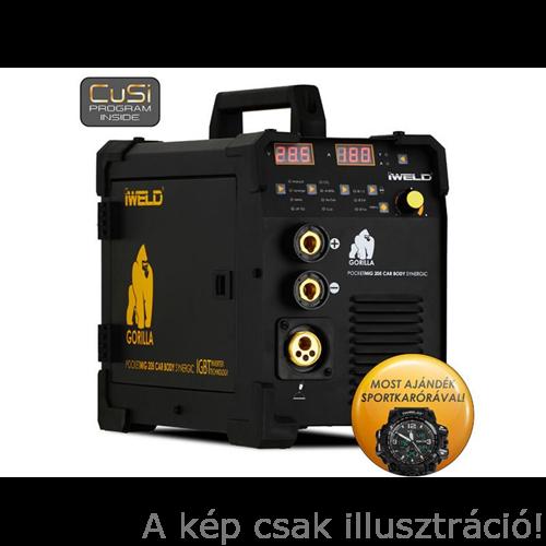 MIG/MAG Heg. gép Iweld GORILLA POCKETMIG 205 CarBodySynergic heg. inverter, 230V,(5kg/cs.190A-60%,3m-es pisztoly,kábelekkel) 80POCMIG205CBS