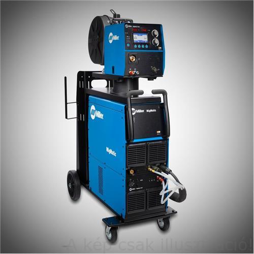 Miller MigMatic S400iP Pulse, DoublePulse(400A@80Bi)+ MigMatic Feed előtoló+5m összekötő kábel+testkábel+vízhűtőkör+ kocsival, Akció!