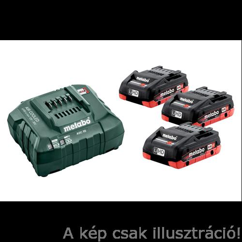 METABO Akkus alapkészlet 3x18V/4,0 Ah LiHD akku+ ASC 55 töltő 685132000