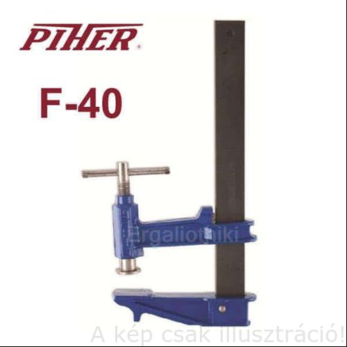 Gyorsszorító PIHER 120x400mm F-40 dugattyús 2404040