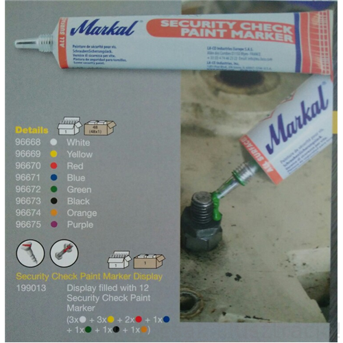 Jelölő festék Markal Security Check Paint Marker zöld (50m/tubus) 96672