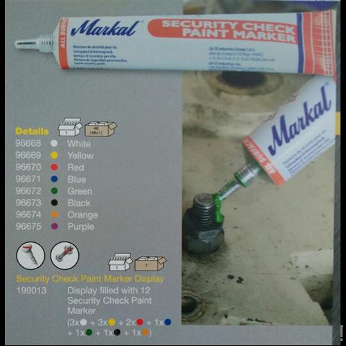 Jelölő festék Markal Security Check Paint Marker fehér (50ml/tubus) 96668