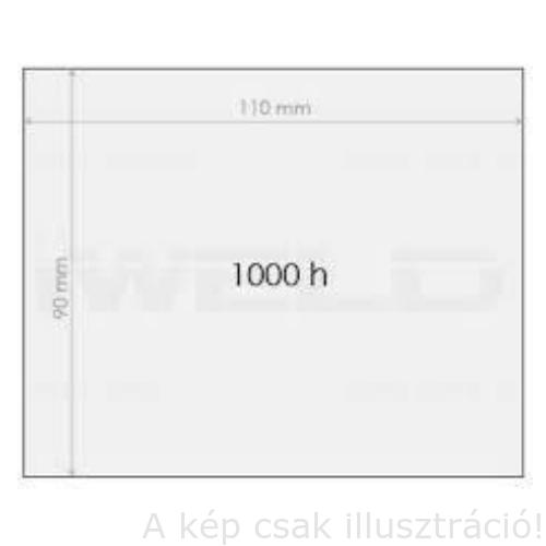 Hegesztő pajzs külső plexi  90x110mm WKS erősített, egyesével papírba csomagolt 312290