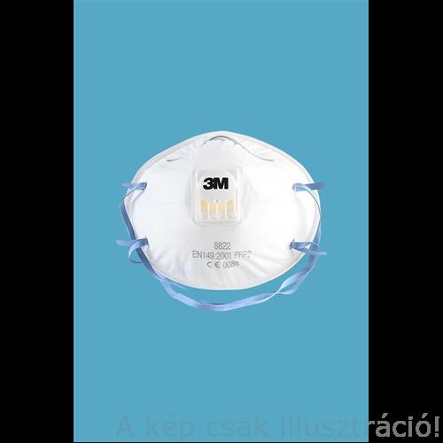 Pormaszk FFP2 szelepes légzésvédő 3M  10db/cs. (8822)