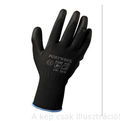 Muv. kesztyű szerelő, A120  XL(10)  'PORTWEST' (kék perem) A120BKRXL