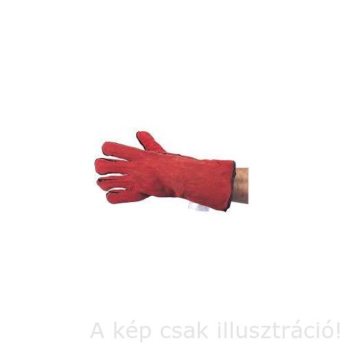 Hegesztő kesztyű piros,hőálló, tenyér erősítéssel, bélelt TFF9611620K Cromwell