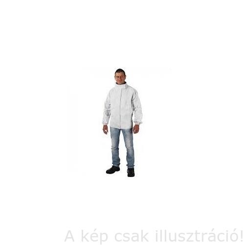 Hegesztő Kabát, marha hasítékbőr, takart patenttal L-XL-es méret 57455, 57456 Ganti