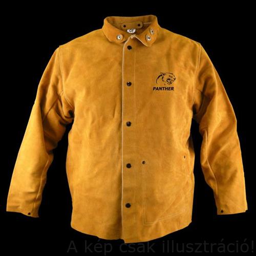 Hegesztő kabát prémium Parweld panther sárga marha hasítottbőr( P3788-L-XL-XXL)